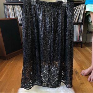 MICHAEL KORS Silver Lace Skirt